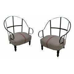 Pair of Original Napoleon III  Armchairs