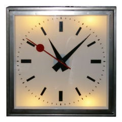 1960's French Train Station Clock