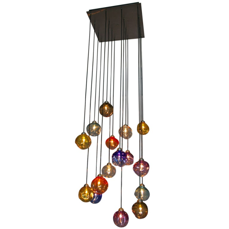 foch multi color chandelier at 1stdibs