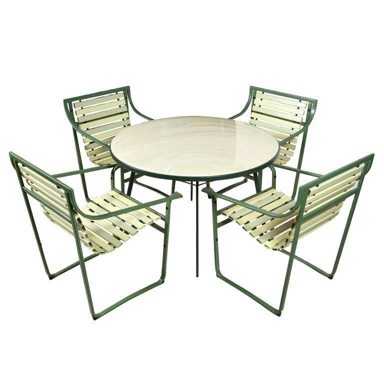 Samsonite Sunrest Outdoor Dining Set At 1stdibs