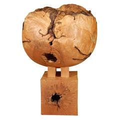 Maple Burl Vessel by Howard Werner