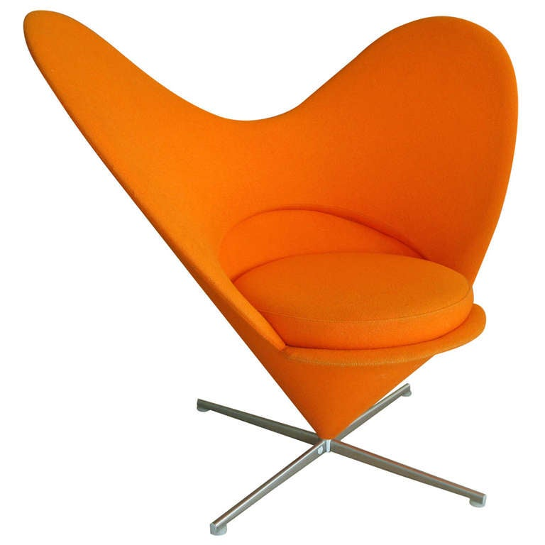 Verner Panton Heart Cone Chair For Vitra At 1stdibs