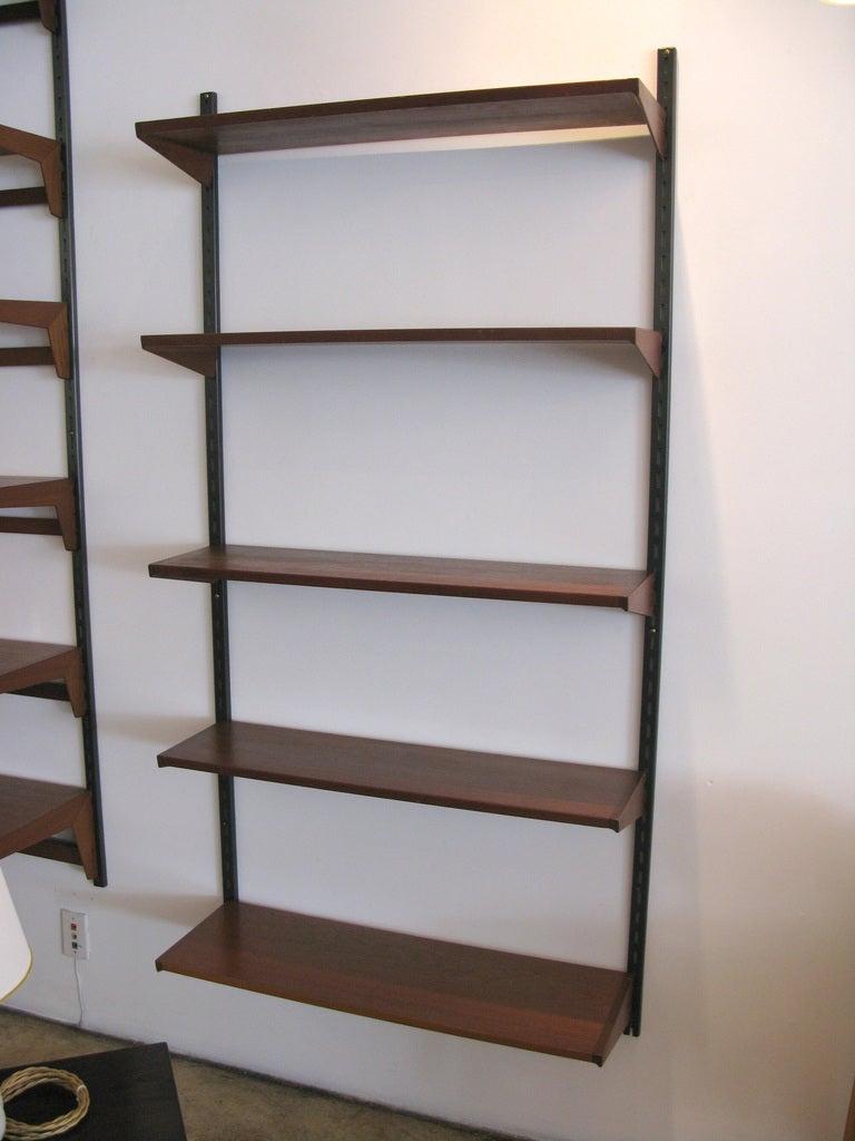 Kai Kristiansen Teak Hanging Shelf System At 1stdibs