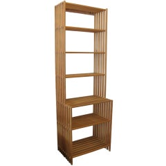 Tall Collapsible Slatted Pine Shelf