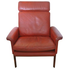 Single Original Finn Juhl Leather Armchair