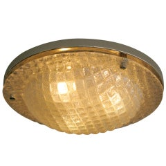 Single Textured Glass Ceiling Mount Light