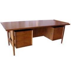Arne Vodder Teak Executive Desk - Model 206