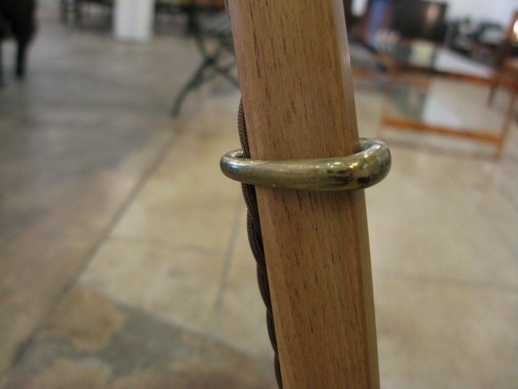 J T Kalmar Adjustable Teak Floor Lamp At 1stdibs