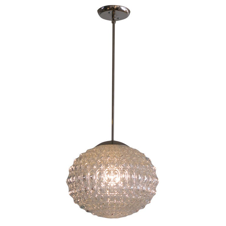 decorative glass sphere pendant light at 1stdibs