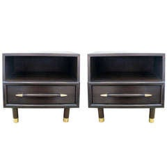 Pair of Brown-Saltman Night Stands