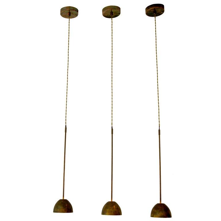 Set Of 3 Asger Copper Pendant Lights At 1stdibs
