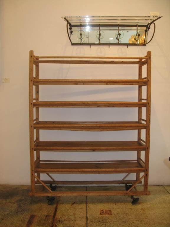 wooden rolling rack