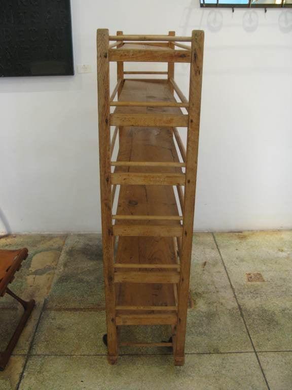 Wooden Rolling Baker S Rack At 1stdibs
