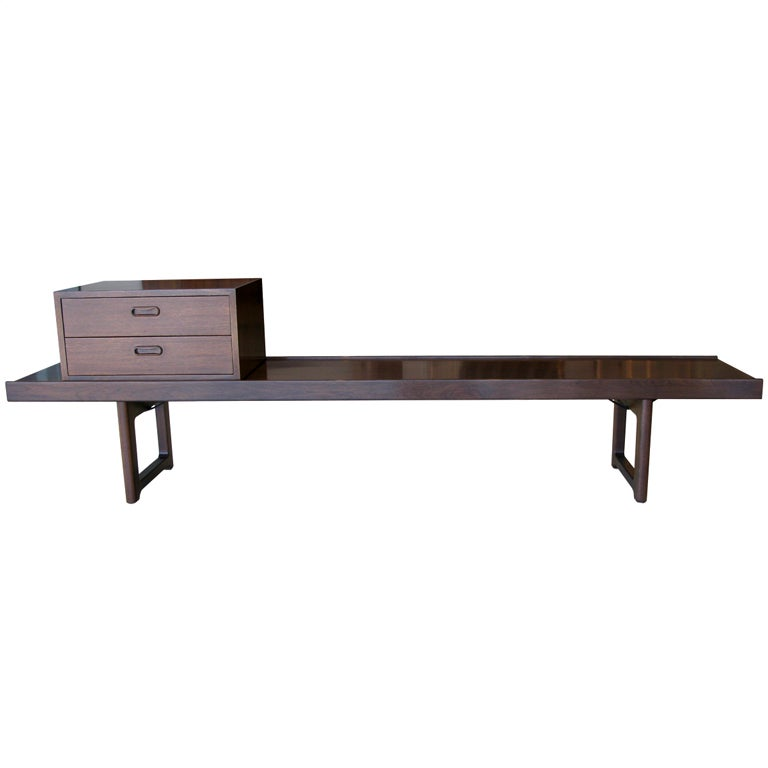 Torbjörn Afdal Walnut Bench w/ Drawers