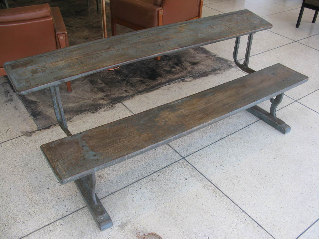 Rare Antique Folding Writing Table / Bench image 2