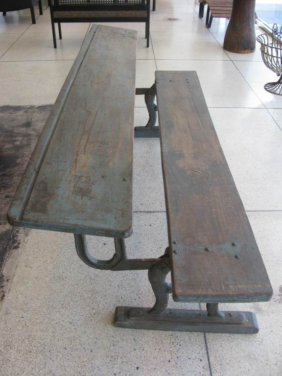 Rare Antique Folding Writing Table / Bench image 3