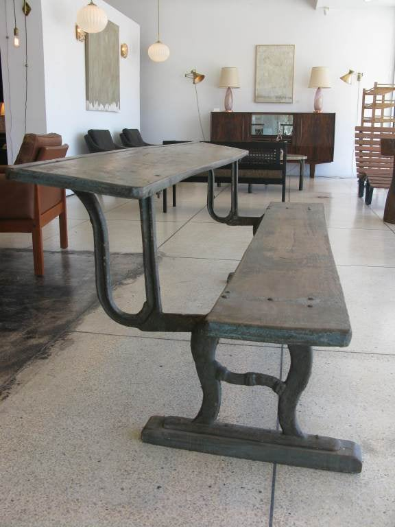Rare Antique Folding Writing Table / Bench image 4