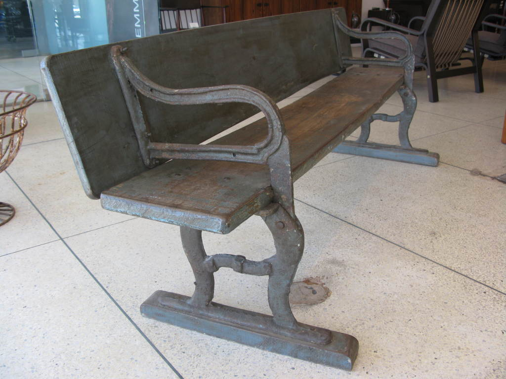 Rare Antique Folding Writing Table / Bench image 5