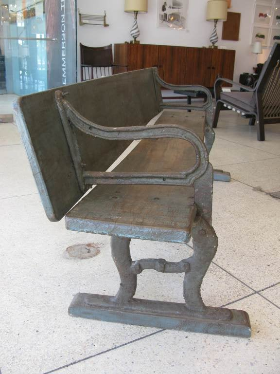 Rare Antique Folding Writing Table / Bench image 6