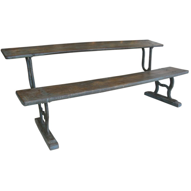 Rare Antique Folding Writing Table / Bench