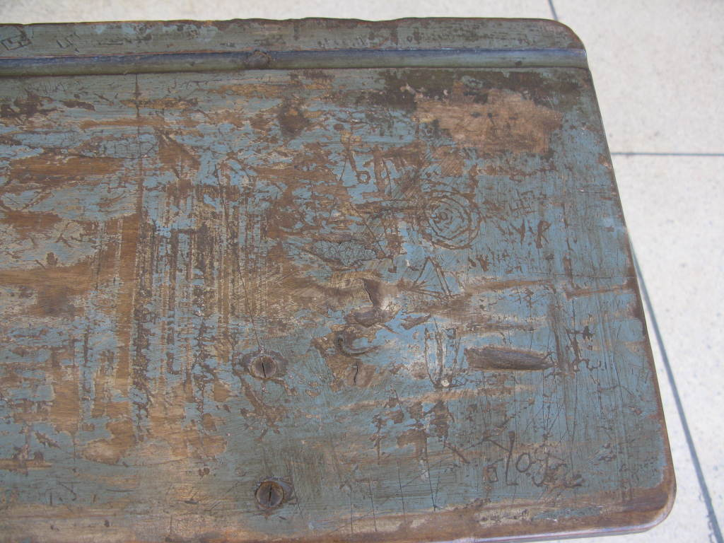 Rare Antique Folding Writing Table / Bench image 10
