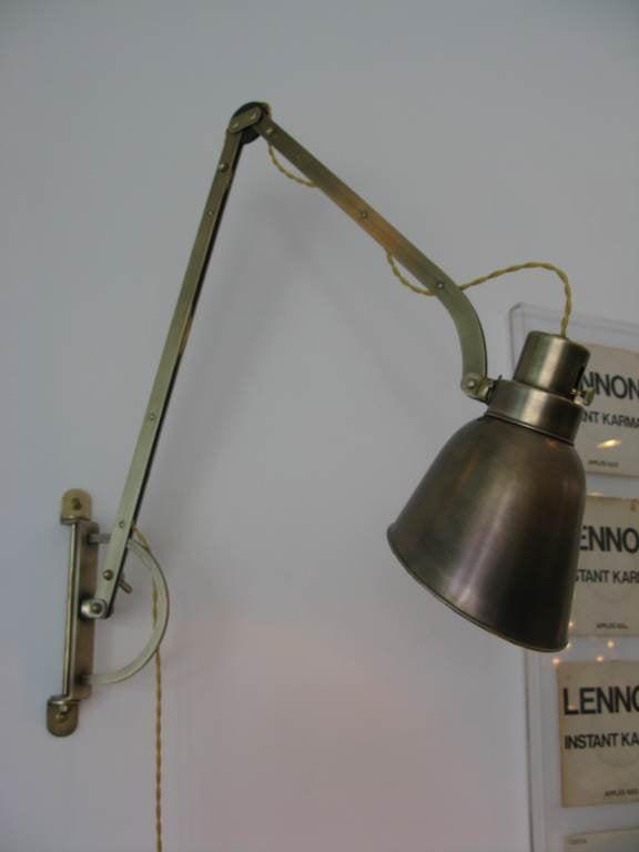 Vintage Metal Wall Lights : Vintage Adjustable Metal Wall Light image 3