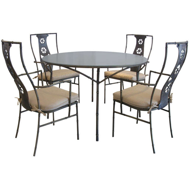 Rare Salterini Montego Dining Set At 1stdibs