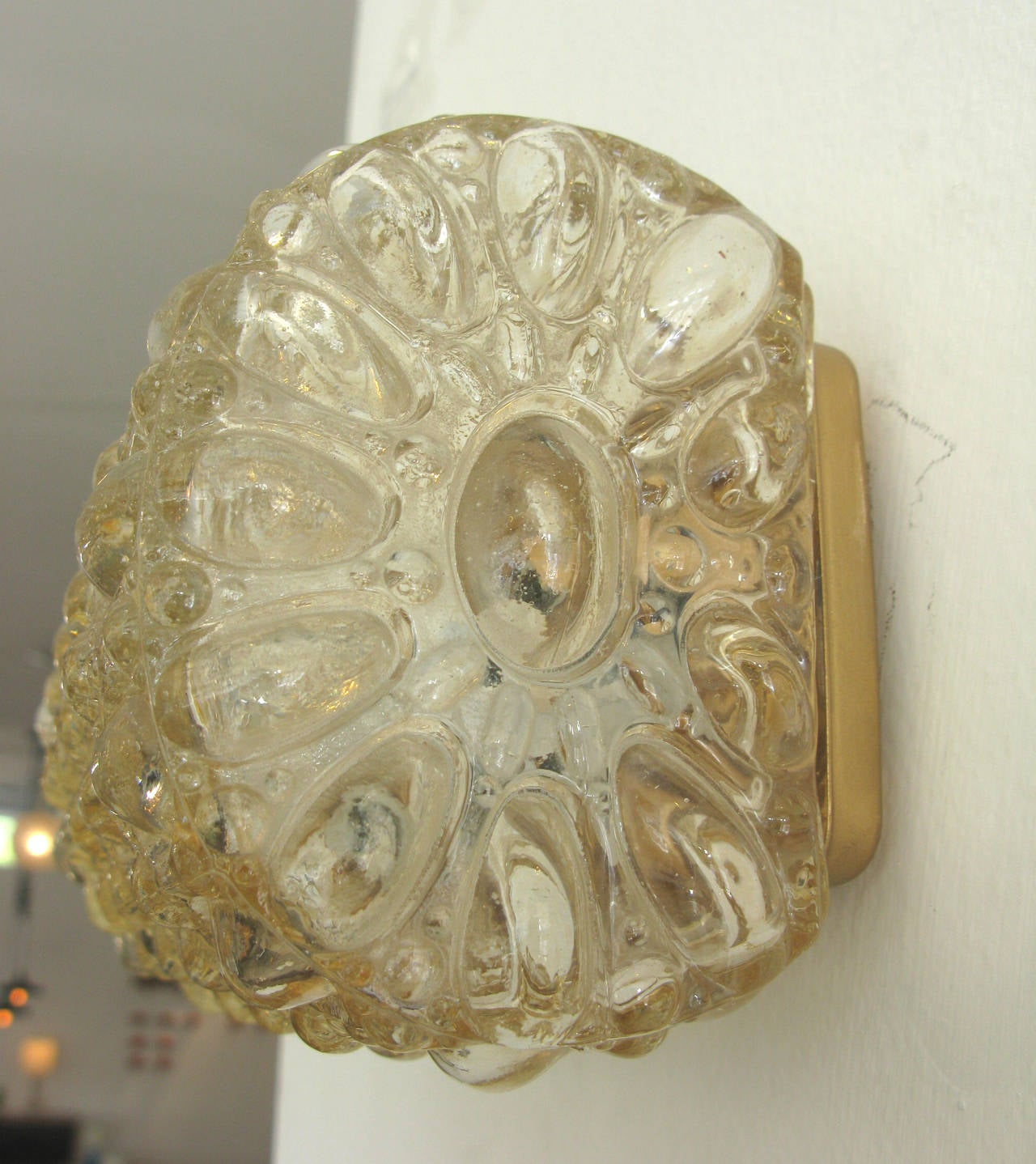 Single Limburg Light Amber Glass Sconce at 1stdibs