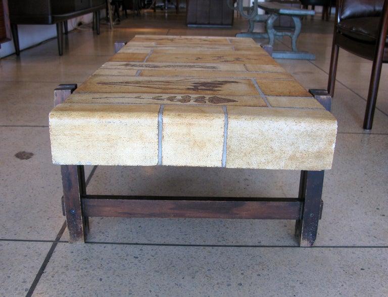 original roger capron tile coffee table at 1stdibs