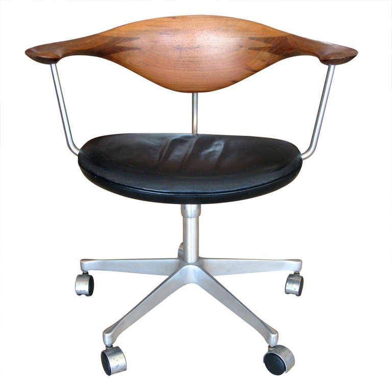 Hans Wegner Swivel Chair At 1stdibs