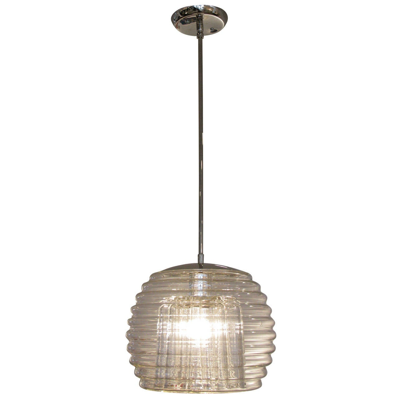 Single Clear Glass Limburg Pendant Light At 1stdibs