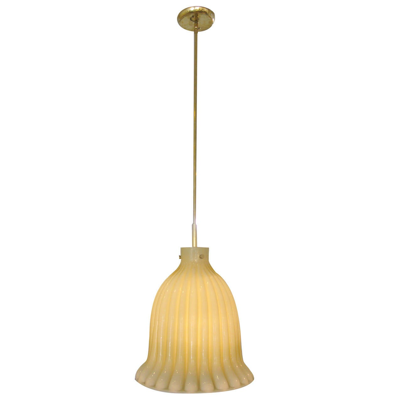 Cream Pale Yellow Doria Pendant Light At 1stdibs
