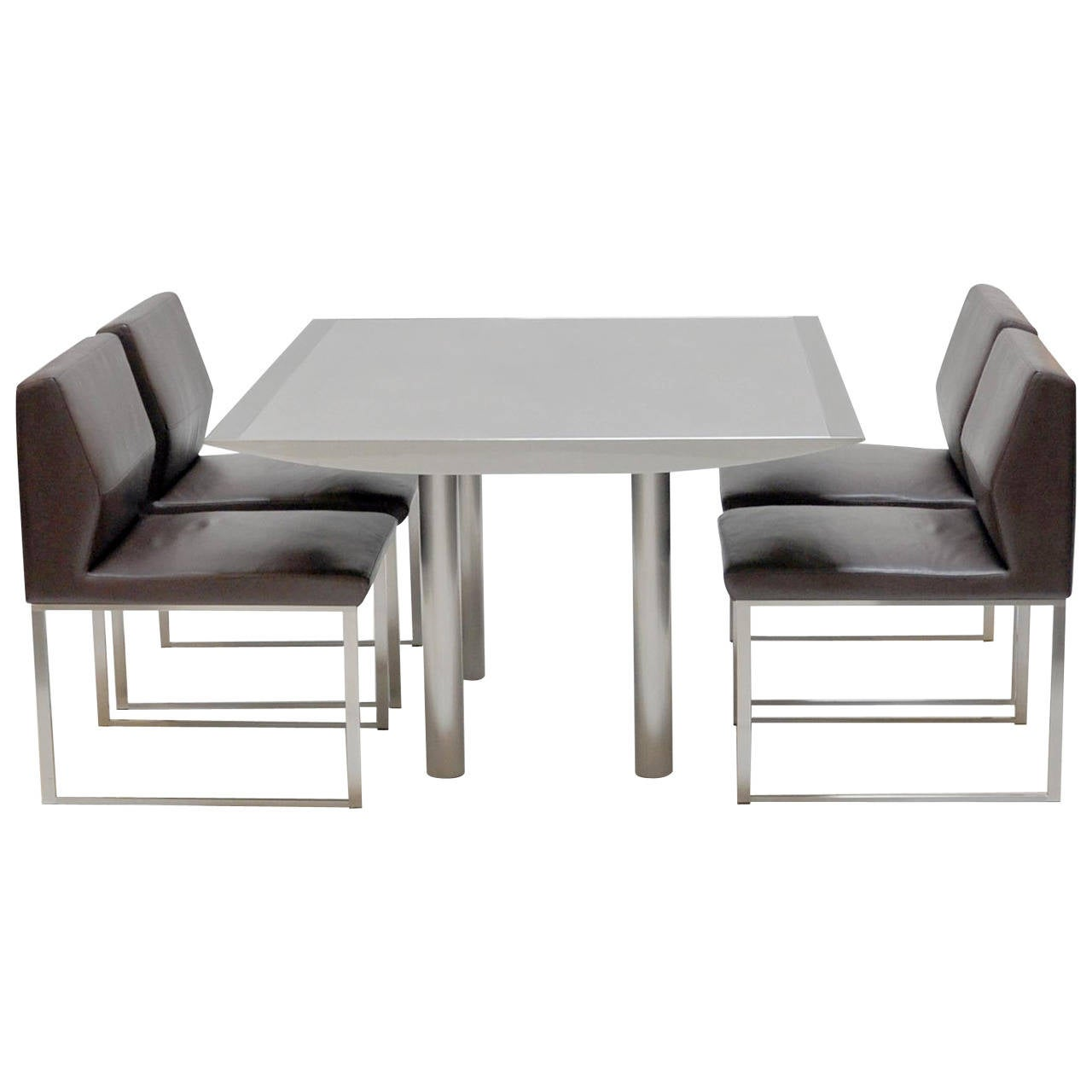 Stanley Jay Friedman for Brueton Table and Four Chairs 1