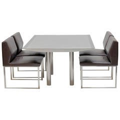 Stanley Jay Friedman for Brueton Table and Four Chairs