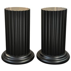 John Widdicomb Pedestal Tables Signed