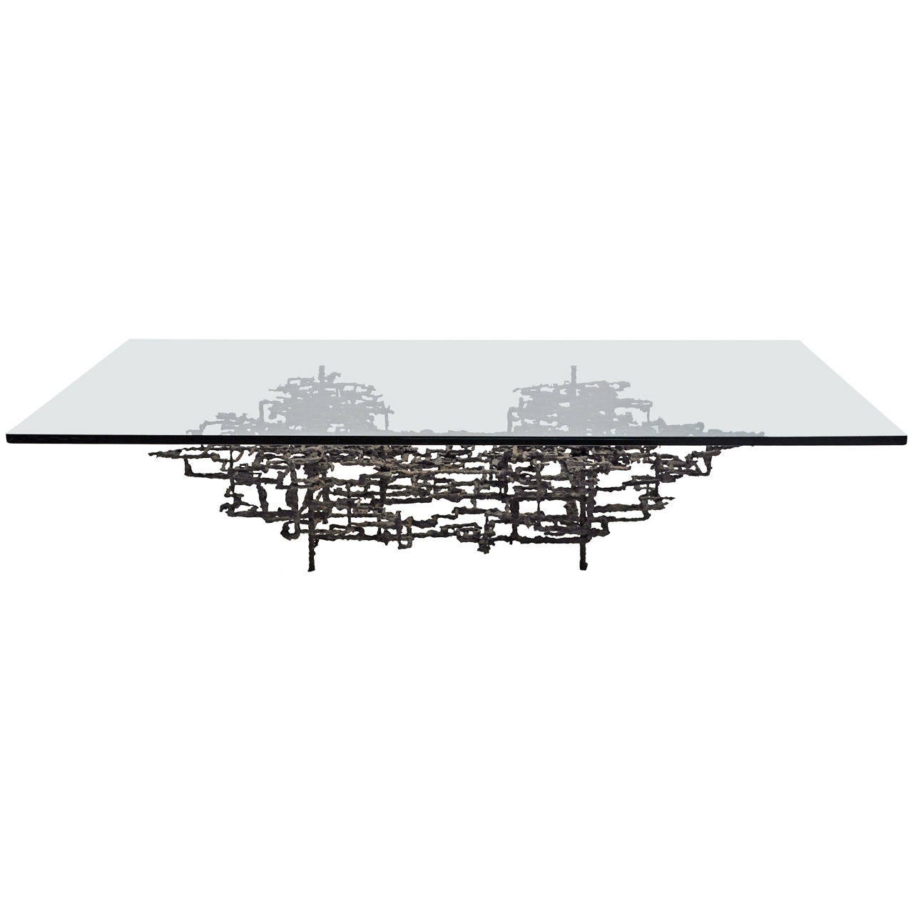 Brutalist Mid-Century Modern Coffee Table For Sale