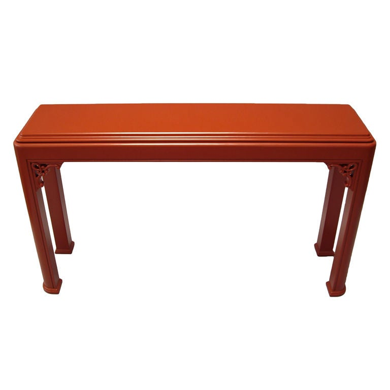 Lacquered wood console table at 1stdibs for Lacquered furniture