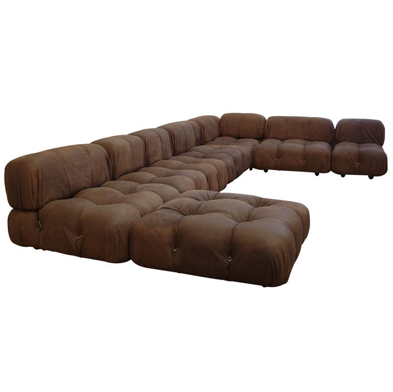 mario bellini 1935 camaleonda modular leather sofa at. Black Bedroom Furniture Sets. Home Design Ideas