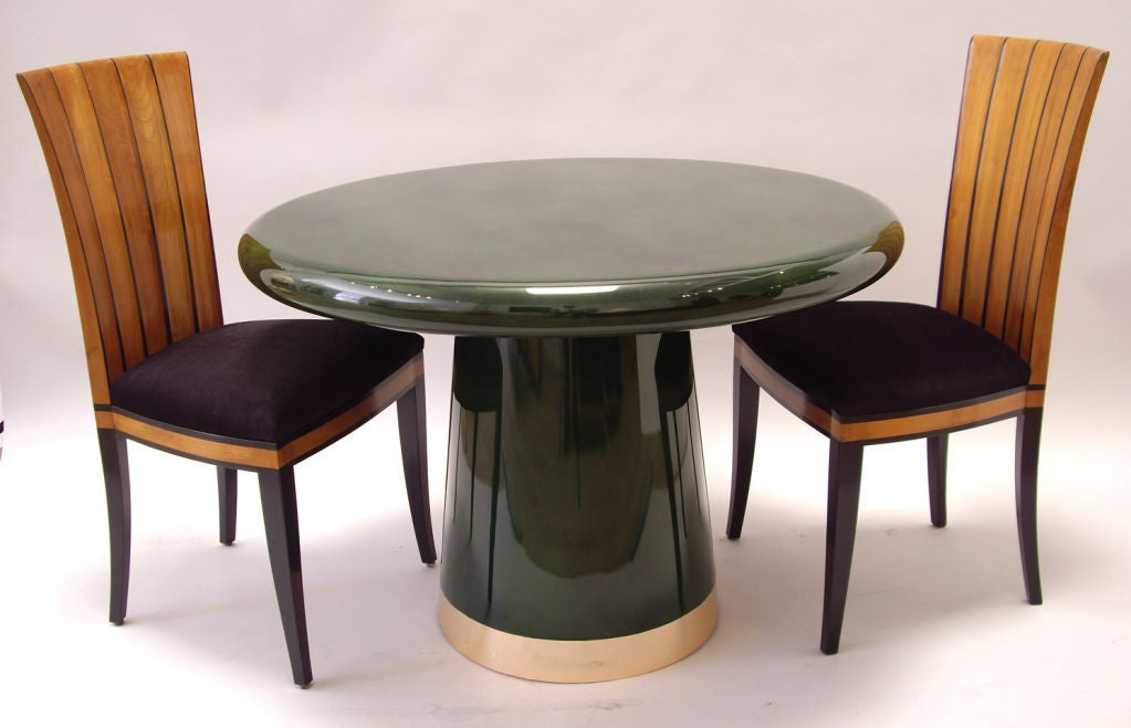 42 green lacquered dining table at 1stdibs
