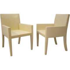 Pair of Leather Arm Chairs from J.Robert Scott