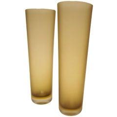 """Paolo Venini (Italian,1895–1959) Pair of Tall """"Inciso"""" Vases"""