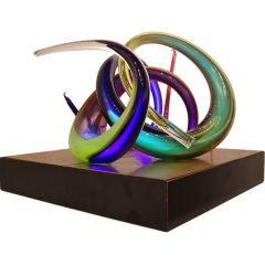 Paul Seide-(American 1949-) Illuminated Glass Sculpture