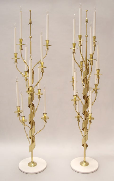 Mid-Century Modern Pair Floor Lamps  Stilnovo For Sale