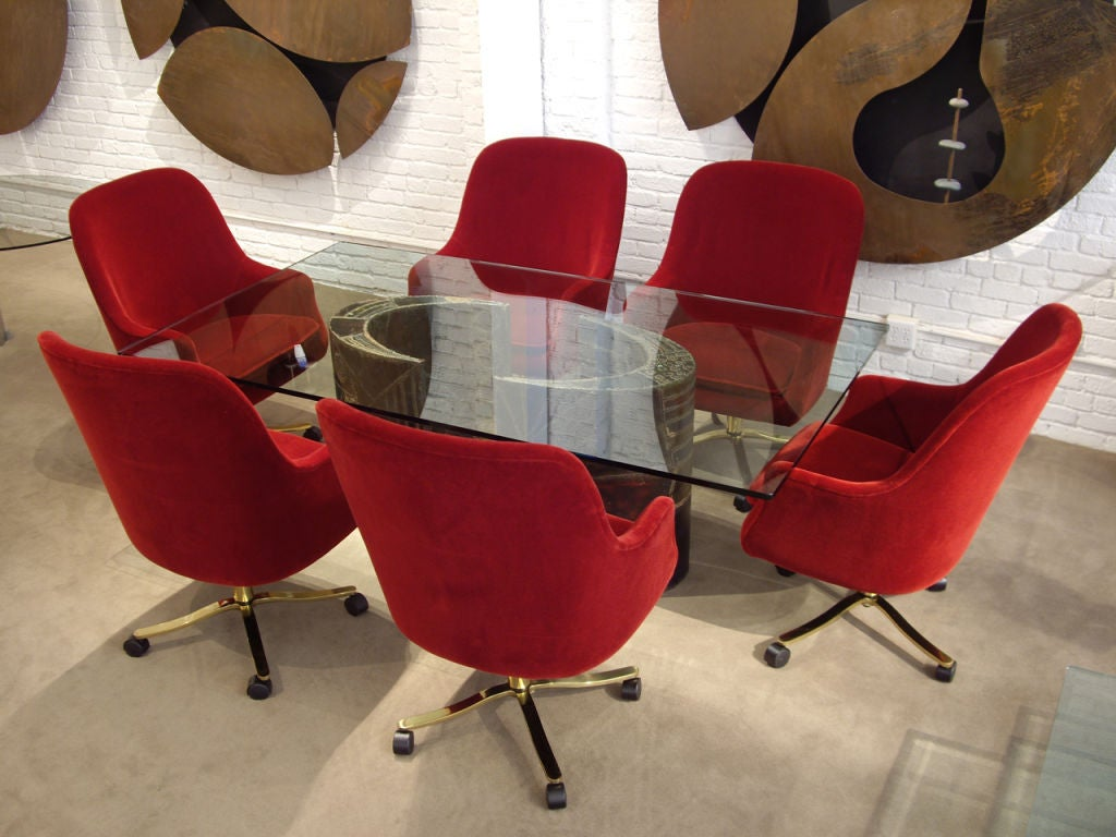 Six Chairs Signed Nicos Zographos In Excellent Condition For Sale In Los Angeles, CA