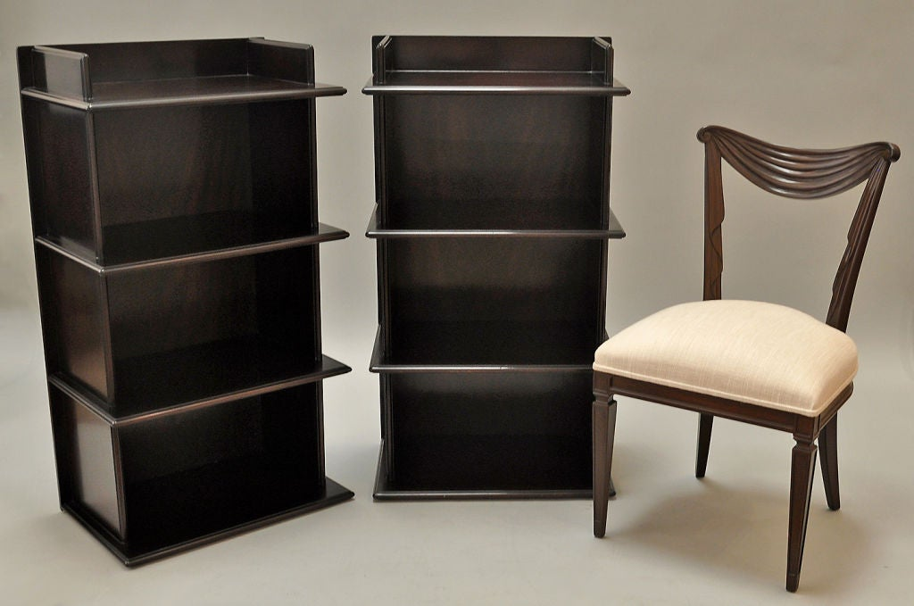 Pair of 1950s Free Standing Bookcases at 1stdibs