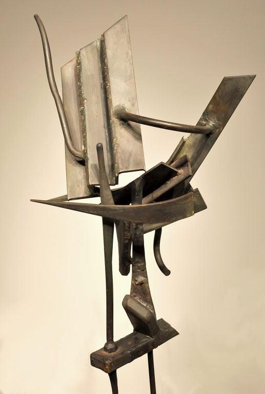 Mid-Century Modern Modernist Welded Steel Sculpture by Oliver Andrews For Sale