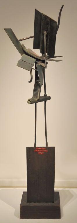 American Modernist Welded Steel Sculpture by Oliver Andrews For Sale