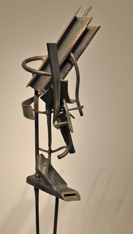 Modernist Welded Steel Sculpture by Oliver Andrews In Excellent Condition For Sale In Los Angeles, CA