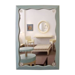 Grosfeld House: 1940s Leather Clad Mirror