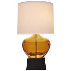 Flavio Poli Murano Glass Lamp, Italy, 1900-1984